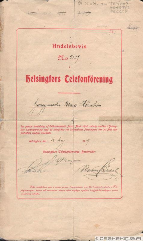 Helsingin Puhelinyhdistys Helsingfors Telefonförening Herkkumylly Oy ef3ce28359