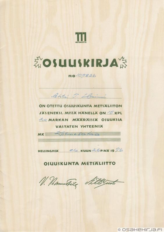 metsäliitto osuuskunta Tornio