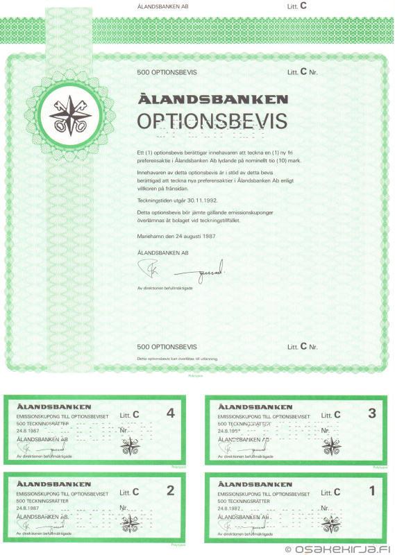 Ålandsbanken Ab - Scripophily.fi